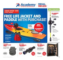 Kayak deals in the Academy weekly ad in Memphis TN