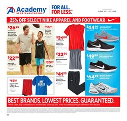 Sportswear deals in the Academy weekly ad in Humble TX