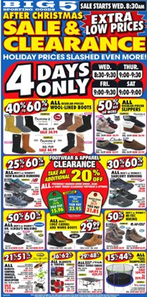 Big5 Sporting Goods deals in the Van Nuys CA weekly ad