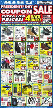 Big5 Sporting Goods catalogue in San Diego CA ( Expires today )