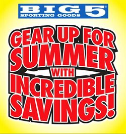 Sports offers in the Big5 Sporting Goods catalogue in Redlands CA ( Expires tomorrow )