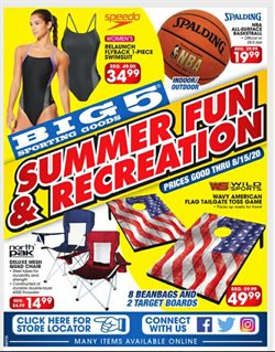 Sports offers in the Big5 Sporting Goods catalogue in Modesto CA ( 2 days ago )