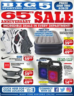 Sports offers in the Big5 Sporting Goods catalogue in Tracy CA ( Expires tomorrow )