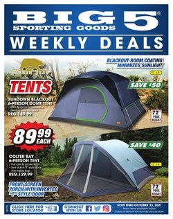 Sports deals in the Big5 Sporting Goods catalog ( 1 day ago)