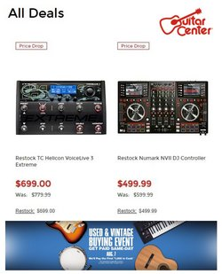 Gifts & Crafts deals in the Guitar Center catalog ( 3 days left)