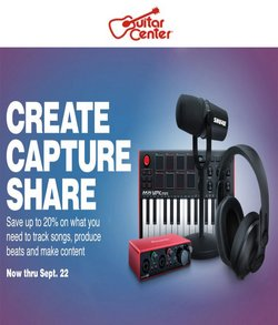 Gifts & Crafts deals in the Guitar Center catalog ( 4 days left)