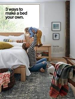 Bed deals in the Crate&Barrel weekly ad in New York