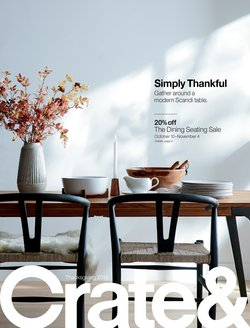 Crate&Barrel deals in the Gilbert AZ weekly ad