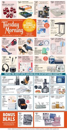 Home & Furniture deals in the Tuesday Morning weekly ad in Sunnyvale CA