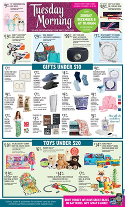 Home & Furniture deals in the Tuesday Morning weekly ad in Miami FL