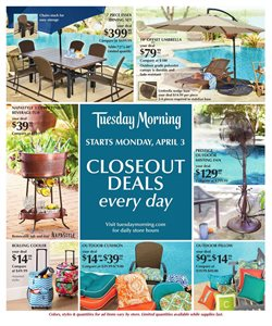 Tuesday Morning deals in the Sterling VA weekly ad