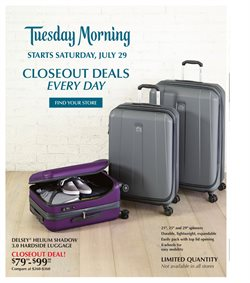 Tuesday Morning deals in the Houston TX weekly ad