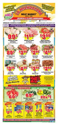 Grocery & Drug deals in the La Michoacana weekly ad in San Antonio TX