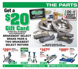 Brakes deals in the O'Reilly Auto Parts weekly ad in Burbank CA