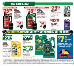 Oil change deals in the O'Reilly Auto Parts weekly ad in Van Nuys CA