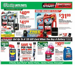 Automotive deals in the O'Reilly Auto Parts weekly ad in Burbank CA