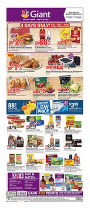 Grocery & Drug deals in the Giant Food catalog ( 3 days left)
