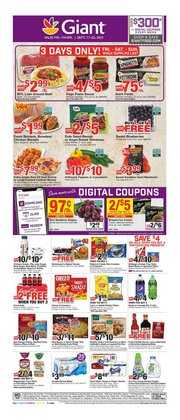 Grocery & Drug deals in the Giant Food catalog ( Expires today)