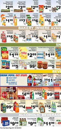 Budweiser deals in the Fine Fare weekly ad in New York