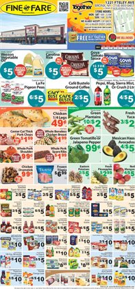 Pillsbury deals in the Fine Fare weekly ad in New York