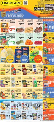 Kraft deals in the Fine Fare weekly ad in New York
