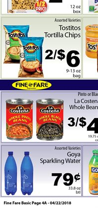 Boxes deals in the Fine Fare weekly ad in New York