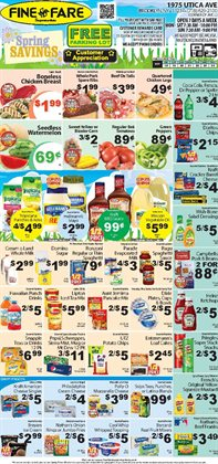 Spices deals in the Fine Fare weekly ad in New York