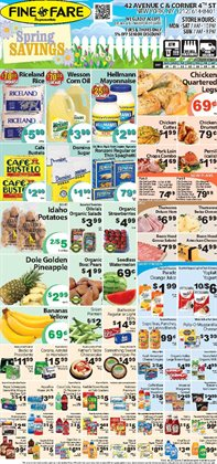 Table deals in the Fine Fare weekly ad in New York