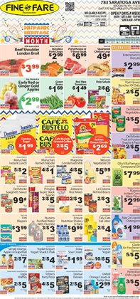 TV deals in the Fine Fare weekly ad in New York
