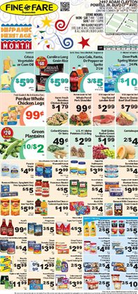 Sprite deals in the Fine Fare weekly ad in New York