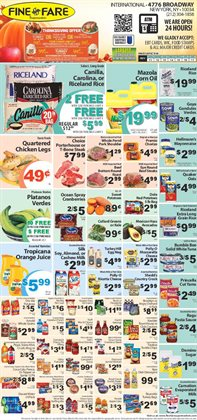 Cereals deals in the Fine Fare weekly ad in New York