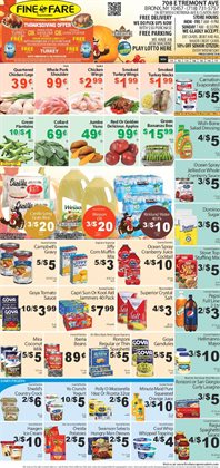 Campbell's deals in the Fine Fare weekly ad in New York