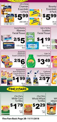 Tissues deals in the Fine Fare weekly ad in New York