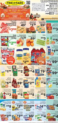 Crackers deals in the Fine Fare weekly ad in New York