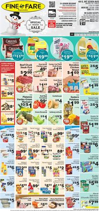 Doors deals in the Fine Fare weekly ad in New York