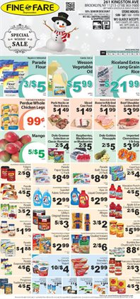 Ajax deals in the Fine Fare weekly ad in New York