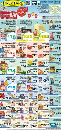 Potatoes deals in the Fine Fare weekly ad in New York