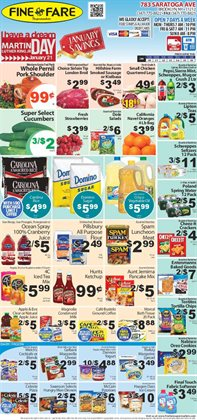 Fabric softener deals in the Fine Fare weekly ad in New York
