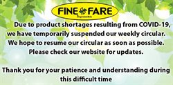 Fine Fare catalogue in New York ( Expires today )