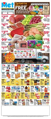 Cheese deals in the Met Foodmarkets weekly ad in New York