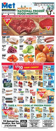 Grocery & Drug offers in the Met Foodmarkets catalogue in New York ( Expires tomorrow )