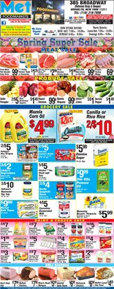 Sales deals in the Met Foodmarkets weekly ad in New York