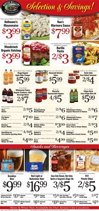Budweiser deals in the Morton Williams weekly ad in New York