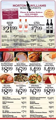 Wine deals in the Morton Williams weekly ad in New York