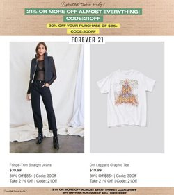 Forever 21 deals in the Forever 21 catalog ( 10 days left)