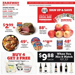 Grocery & Drug offers in the Fareway catalogue in Muscatine IA ( Expires tomorrow )