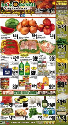 Baja Ranch deals in the Pasadena CA weekly ad