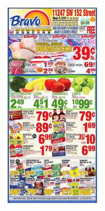 Water deals in the Bravo Supermarkets weekly ad in New York