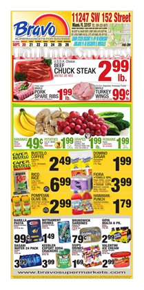 Bravo Supermarkets deals in the Miami FL weekly ad
