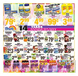 Pasta deals in the Bravo Supermarkets weekly ad in New York